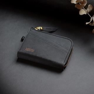 【俬品創意】L型零錢包_極簡黑(RFID防盜刷.雙面感應免取卡)