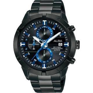 【ALBA】雅柏 IG廣告款原創計時手錶-44mm(VD57-X174SD  AM3751X1)