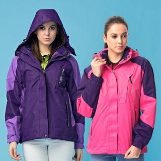 【NOFAH】極地機能高防水續暖二件式刷毛風衣外套-女(兩色)