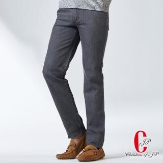 【JYI PIN 極品名店】摩登時尚棉料水洗休閒褲_灰藍(HS737-1)