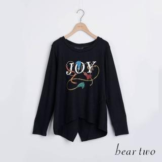 【bear two】JOY印花後開衩造型上衣(三色)
