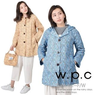 【w.p.c】後腰釦帶款。時尚雨衣/風衣 R1015(2色任選)