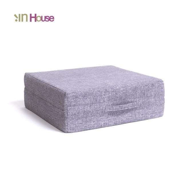 【IN-HOUSE】日式無壓力坐墊(方形-灰色)/