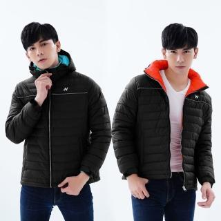 【Nishizaki 西崎】男款防風防潑水羽絨外套 N011黑色(M-5L贈收納袋)
