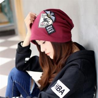 【89 zone】法式優雅透氣六角包防風頭巾/頭巾帽(酒紅)