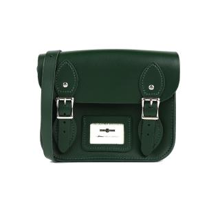 【The Leather Satchel Co.】8.5吋 英國手工牛皮劍橋包 肩背包(郵差綠)