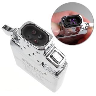 【Zippo】防風雙電弧機芯-雙擊按鈕點火-USB充電
