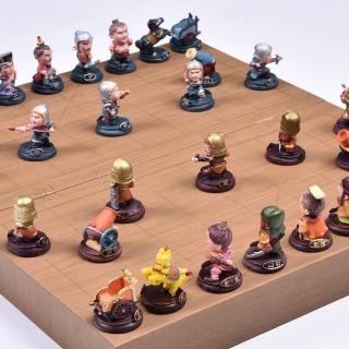 【吉米生活】三國演義 Q版公仔象棋(公仔象棋+棋盤組)