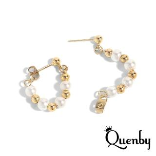 【Quenby】925純銀 新潮款網紅網美最佳選擇款耳環/耳針(韓國流行)