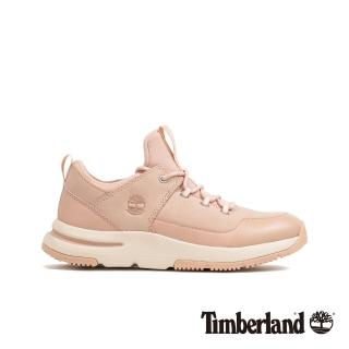 【Timberland】女款淺粉色磨砂革運動鞋(A22RM662)