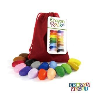 【Crayon Rocks 酷蠟石】酷蠟石 16顆 隨身袋(3點握姿專利設計)