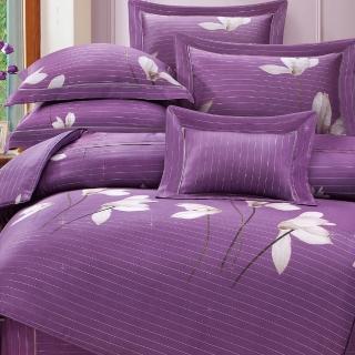 【貝兒居家寢飾生活館】60支100%天絲七件式兩用被床罩組 裸睡銀纖維系列 歐荷菈(特大)