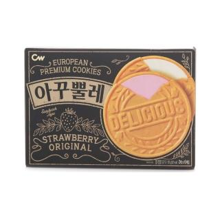 【CROWN】韓國頂級法蘭酥薄餅102g(一次品嘗草莓&原味唷-)