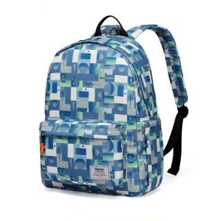 【Heine 海恩】WIN-203 輕巧後背包 媽咪包 防盜包 - 藍色迷宮(育兒包 月子禮物 交換禮物)