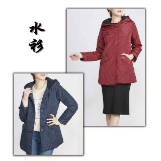 【水衫】經典菱格紋內絨毛外套(H09-21)