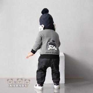 【金安德森】KA大口袋後背雪帽熊男童套裝(共二色)