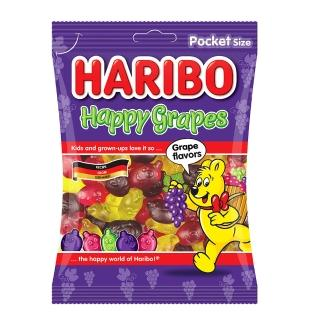 【HARIBO 哈瑞寶】葡萄風味Q軟糖(100g)