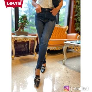 【LEVIS】女款 Revel 高腰緊身提臀牛仔褲 / 超彈力塑形布料 / 深藍刷白 / Lyocell天絲棉(專利塑型科技)