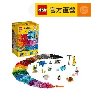【LEGO 樂高】經典套裝 顆粒與動物 1500pcs(11011)