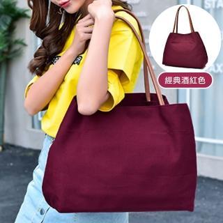 【RH】極簡大容量經典酒紅手提包(韓國東大門代購同款)