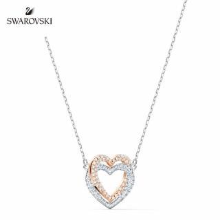 【SWAROVSKI 施華洛世奇】Infinity Heart 鍍多色心形項鏈