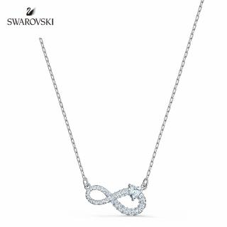 【SWAROVSKI 施華洛世奇】Infinity 白金色愛無限項鏈