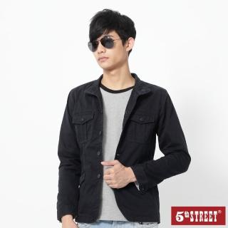 【5th STREET】男平織西裝外套-黑藍