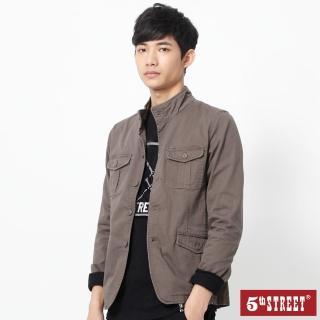 【5th STREET】男平織西裝外套-灰褐