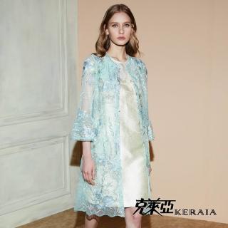 【KERAIA 克萊亞】細緻微光澤奢華縫珠洋裝