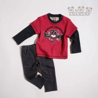 【金安德森】KA假兩件式翅膀熊男童套裝(共二色)