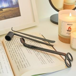 【Vana Candles】香氛蠟燭配件三入組 蠟燭剪 燭剪 燭芯剪 燭芯鉤 滅燭罩