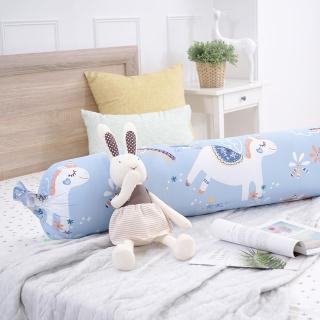 【IN-HOUSE】快樂獨角獸糖果長抱枕(藍-35x125cm)