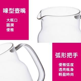 Nordic簡約耐熱玻璃冷水壺(1700ml 304不鏽鋼耐熱玻璃冷水壺)