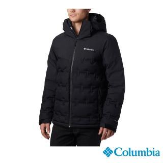 【Columbia 哥倫比亞】男款-Omni-TECH 防水保暖羽絨外套-黑色(UEE09010BK / 防水.保暖.透氣)