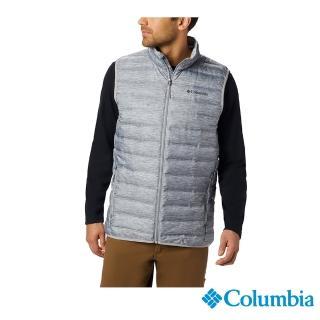 【Columbia 哥倫比亞】男款-防潑水羽絨背心-深灰(UWE09520DY / 保暖.運動.機能)