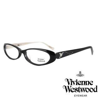 【Vivienne Westwood】英倫土星基本款光學鏡框(黑 VW126_01)