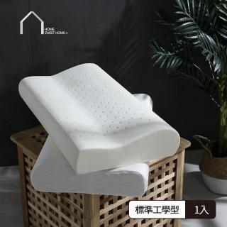 【HOME SWEET HOME 吾居吾宿】親膚涼感透氣釋壓記憶枕-天絲標準工學型(1入)