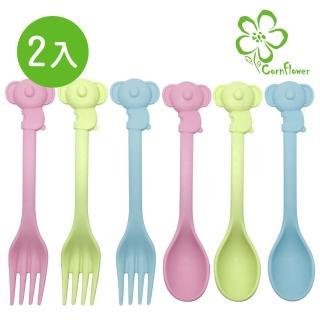 【Cornflower】元氣無尾熊叉匙組2入(無毒玉米食器)
