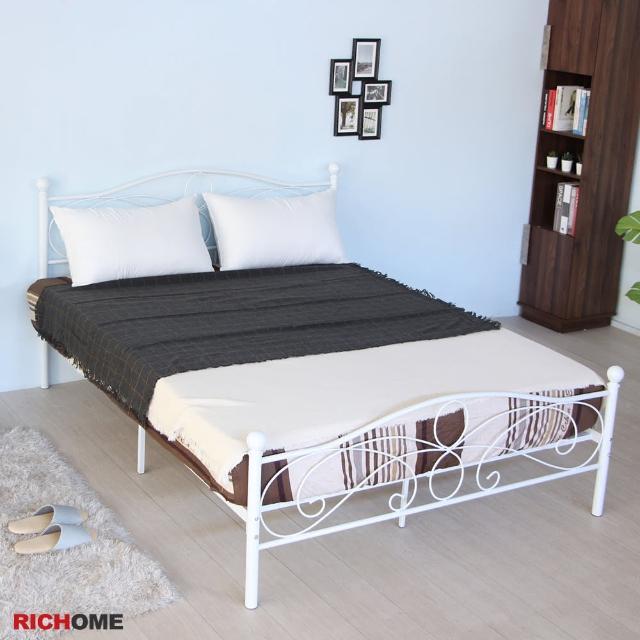 【RICHOME】夢麗北歐風5尺雙人床/鐵床/床架(經典設計)/