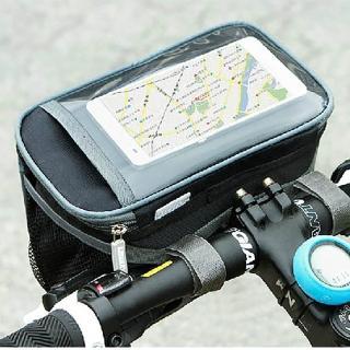 【E.City】大容量自行車手機觸控立體方包(貼心透明觸控視窗  方便導航及使用)