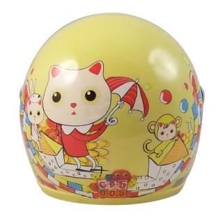 【S-MAO】正版卡通授權 貓咪馬戲團 兒童安全帽 3/4半罩 附鏡片(安全帽│機車│鏡片│貓咪│GOGORO T1)