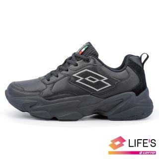 【LOTTO】女 復古老爹鞋(黑-LT0AWR1950)