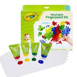 【crayola 繪兒樂】幼兒可水洗手指畫顏料4色組(紅黃藍綠)