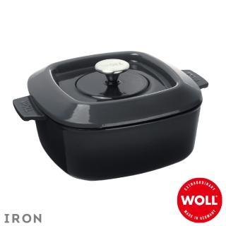 【Woll】德國歐爾-IRON 24cm方型鑄鐵鍋(灰)