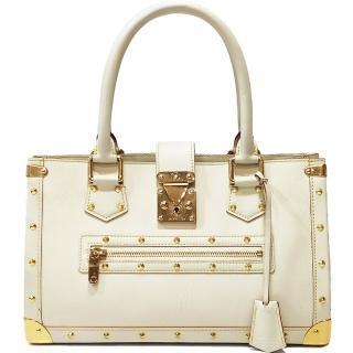 【Louis Vuitton 路易威登】M91815 全球限量品Suhali系列金屬鉚釘山羊皮肩背包(米白色-限量絕版品)