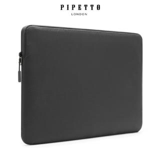 【Pipetto】MacBook 16/15吋 Ultra Lite Sleeve 鑽石紋防撕裂布電腦包-黑色(電腦包)