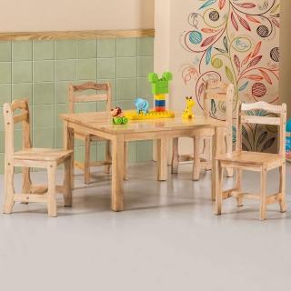 【Homelike】崔蒂兒童桌椅組(一桌四椅)