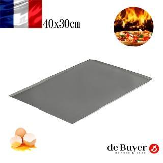【de Buyer 畢耶】『不沾烘焙系列』長方形淺烤托盤40x30cm
