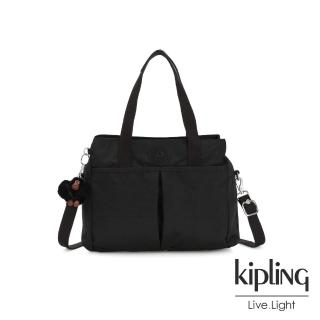 【KIPLING】質感黑大容量手提兩用包-KENZIE/
