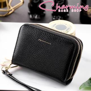【Charming Bags】Tender Lady 真皮防RFID雙層卡片零錢包(LN-765-TE-W)